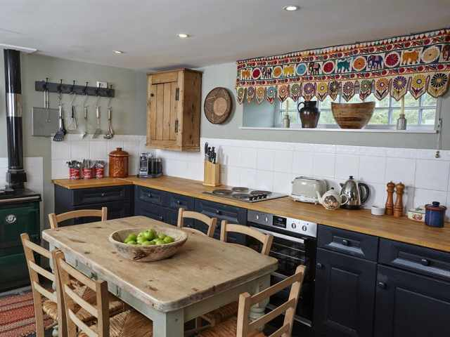 Country kitchen in holiday cottage in Hay on Wye