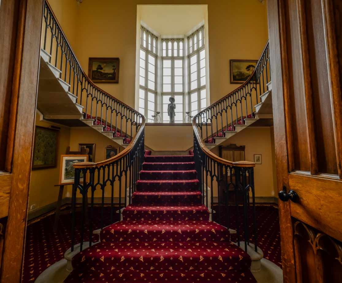 Grand symmetrical staircase