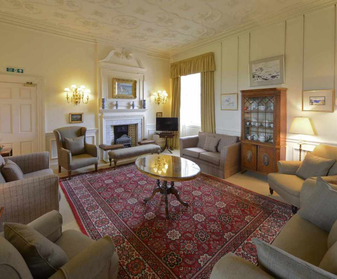 The drawing room is a delight with period antiques