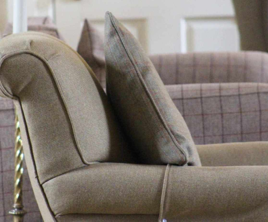 Get comfy on the plush sofas in the cosy drawing room