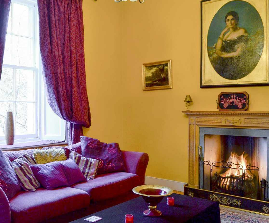 Open fire in the characterful living room