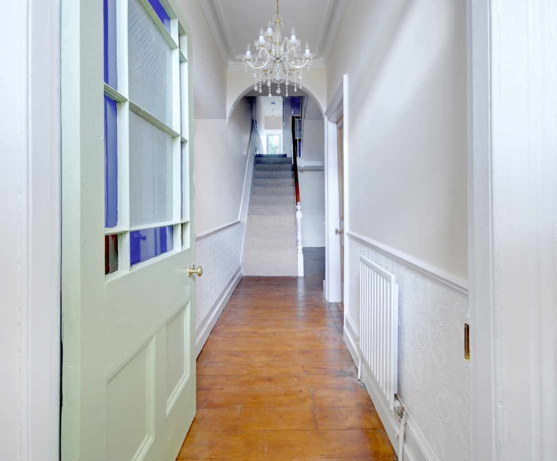 The grand entrance hallway