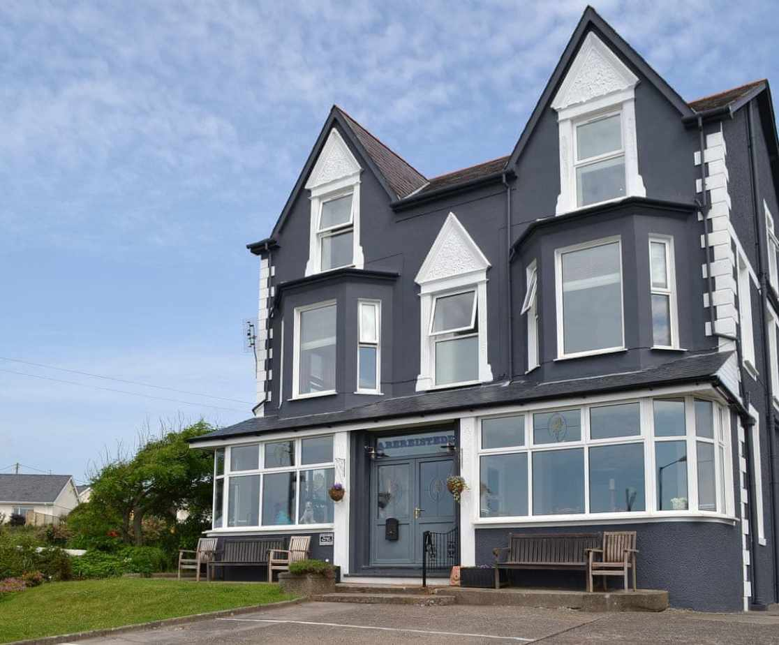 Superbly located right on the seafront with panoramic views across Cardigan Bay