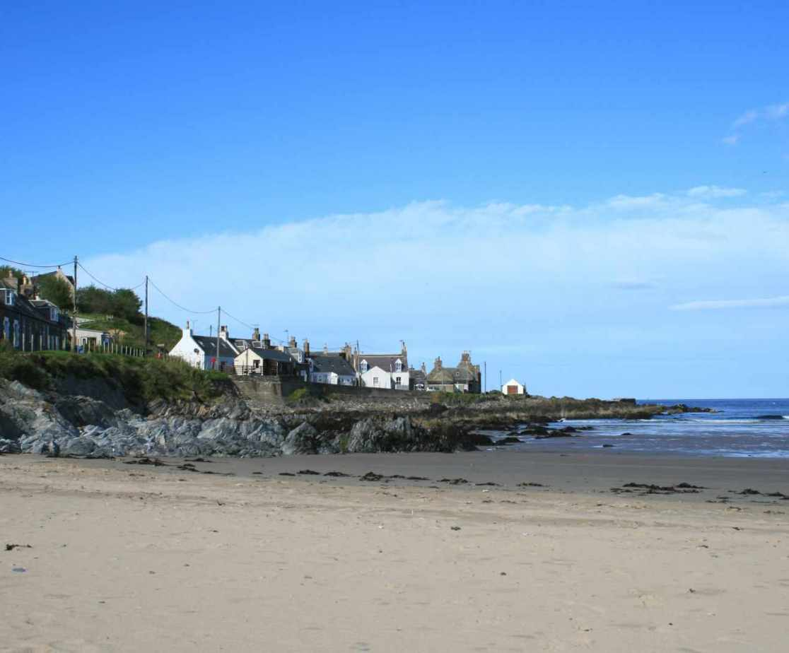 Sandend Bay on the Moray Coast is a popular day trip