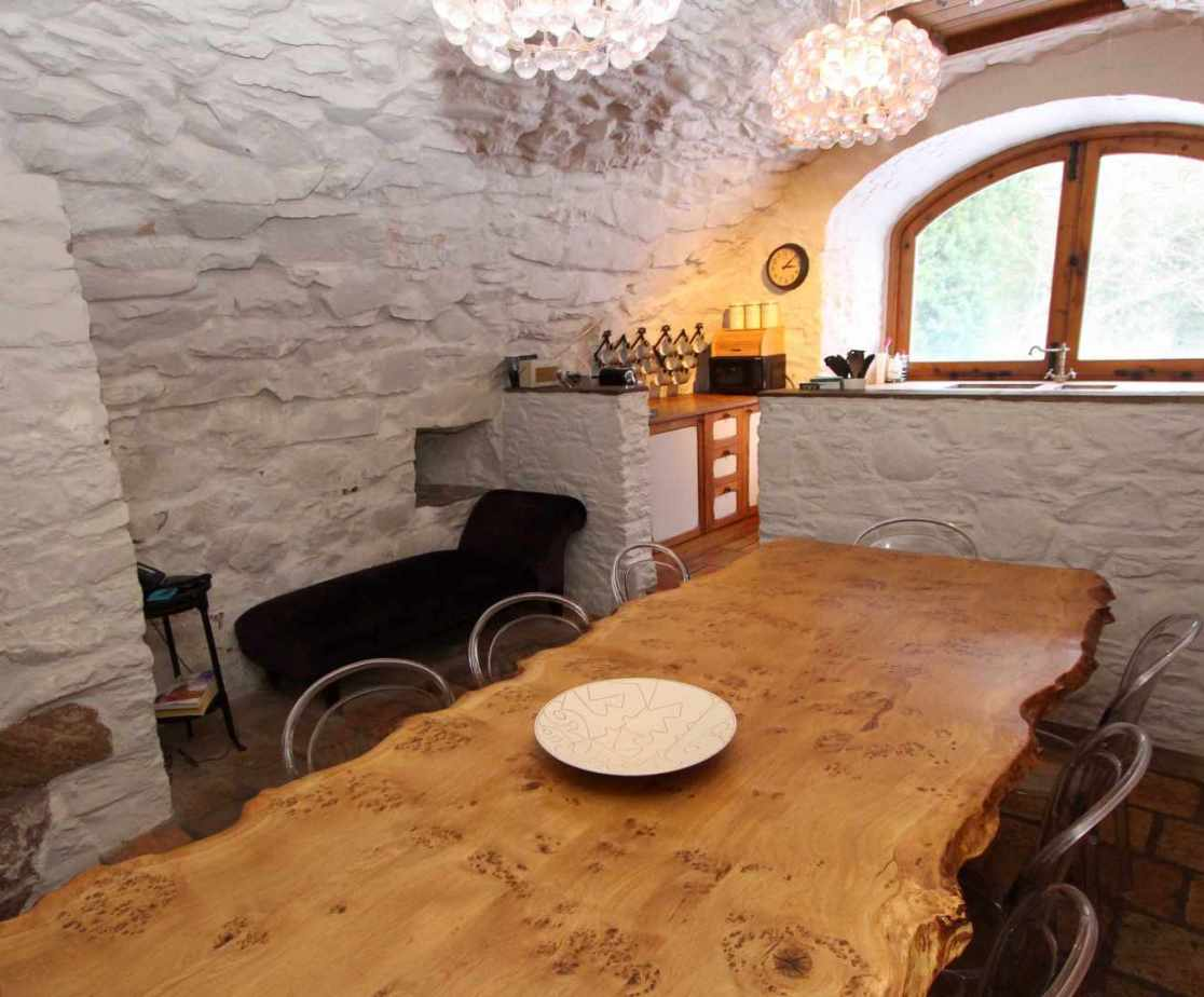 Dine in style in the ground floor vaulted room