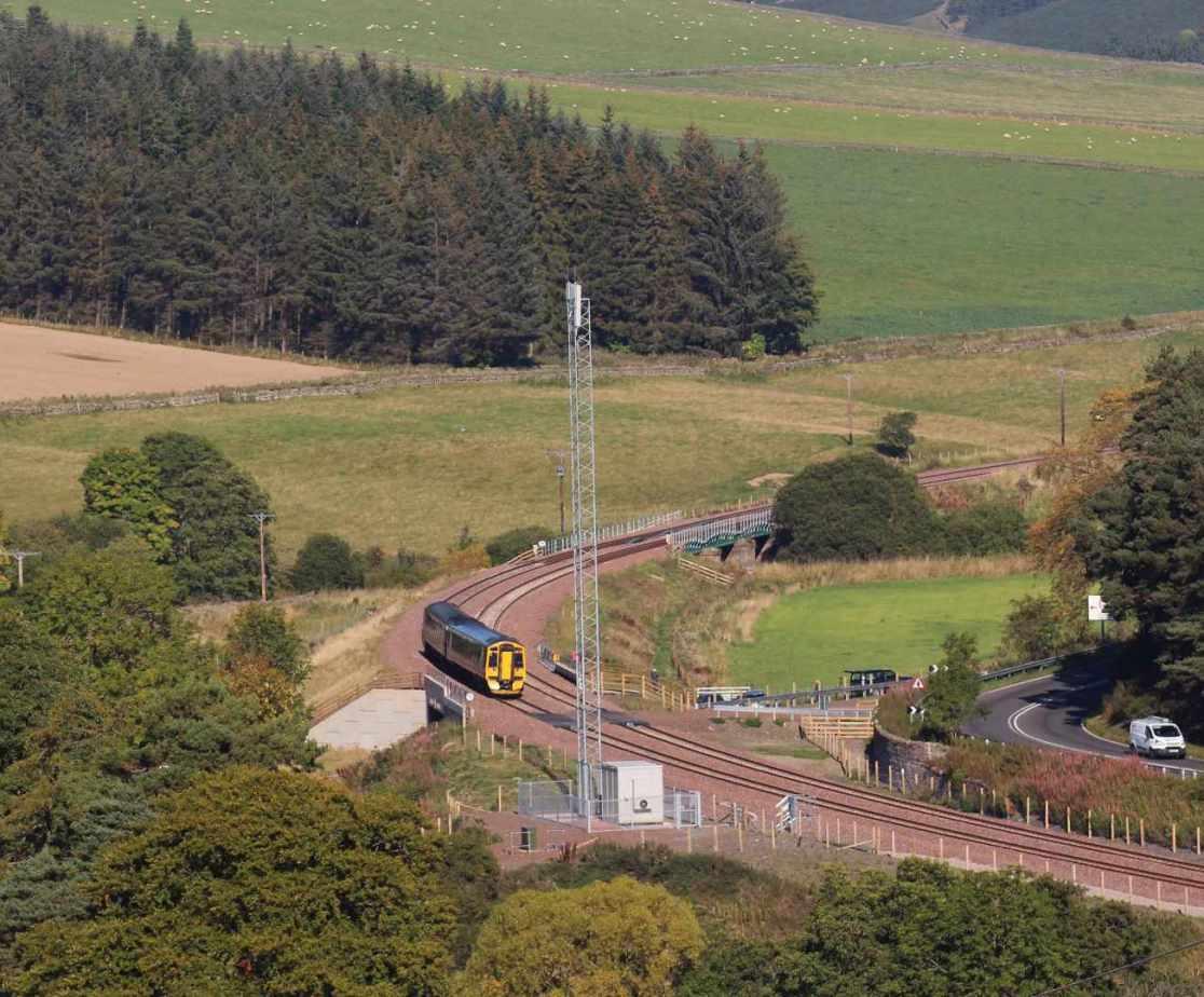 A train service runs from Edinburgh to Galashiels