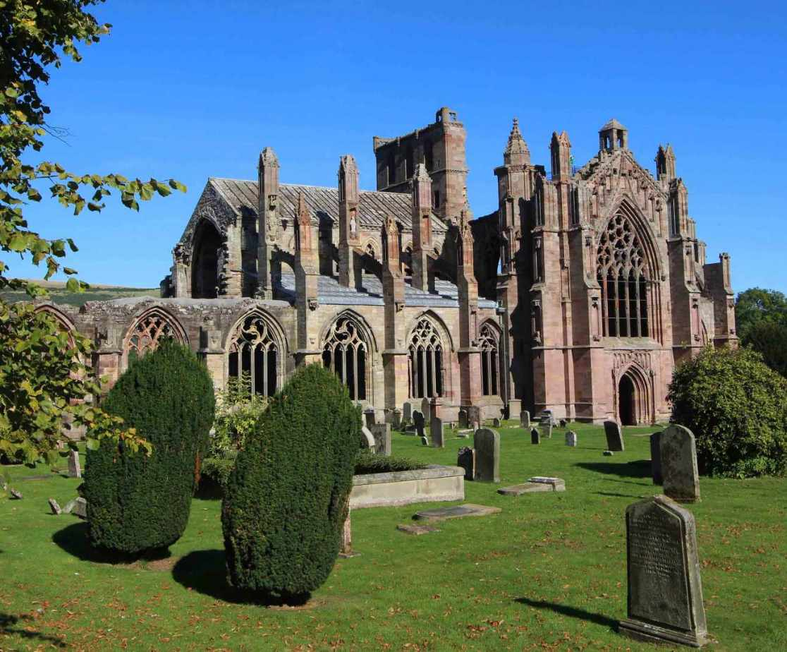 Nearby Melrose Abbey is worth a visit