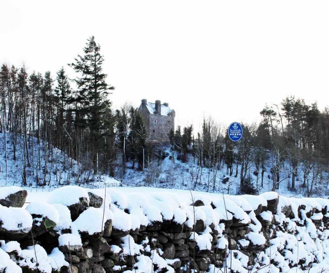 A snowy castle scene