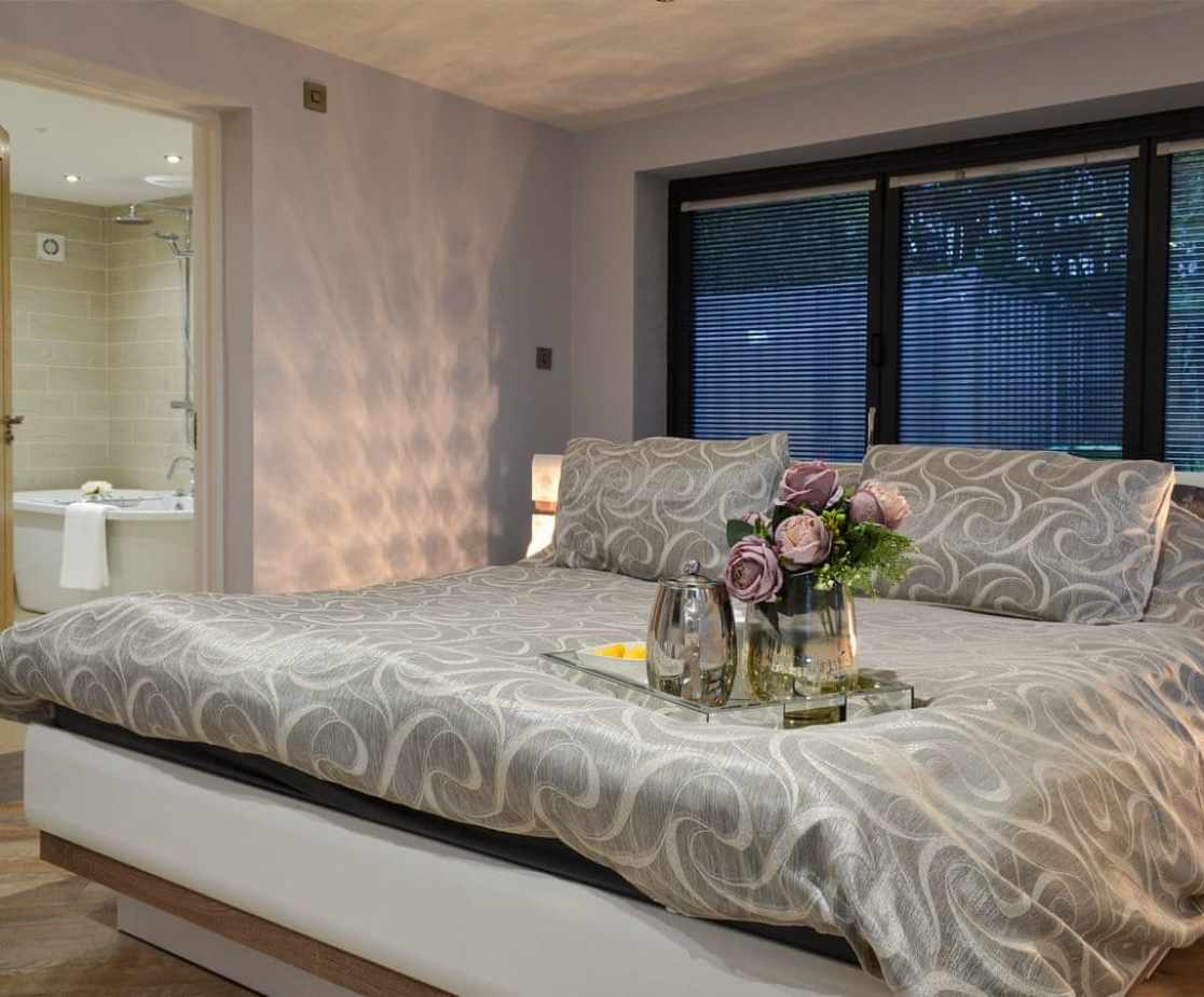 Attractive master bedroom with en-suite