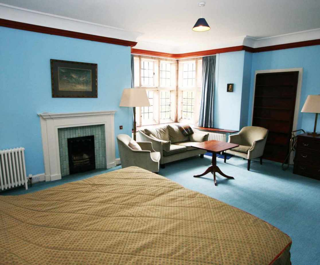 The \'Blue\' bedroom is another spacious room