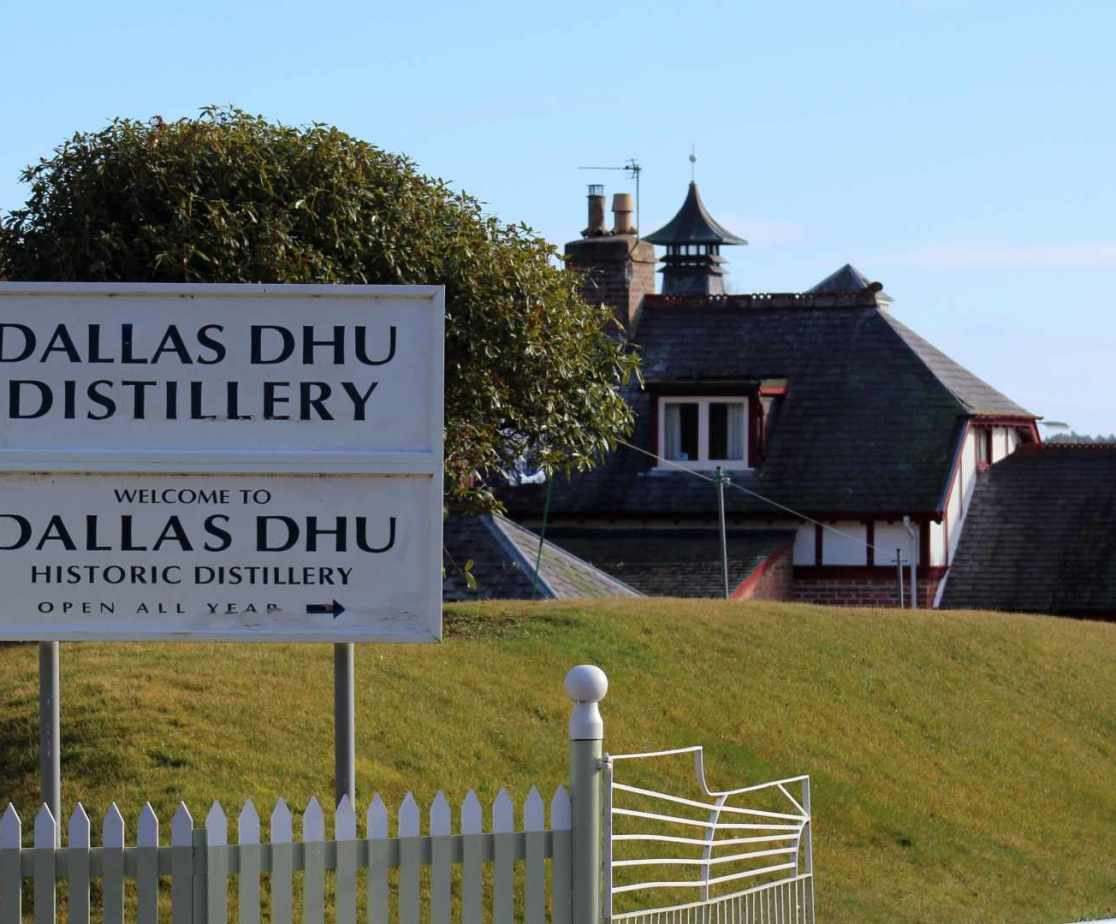 Dallas Dhu Distillery is nearby