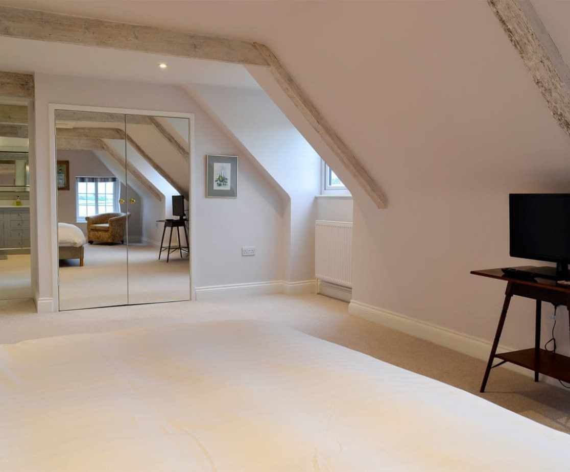 Airy master bedroom suite