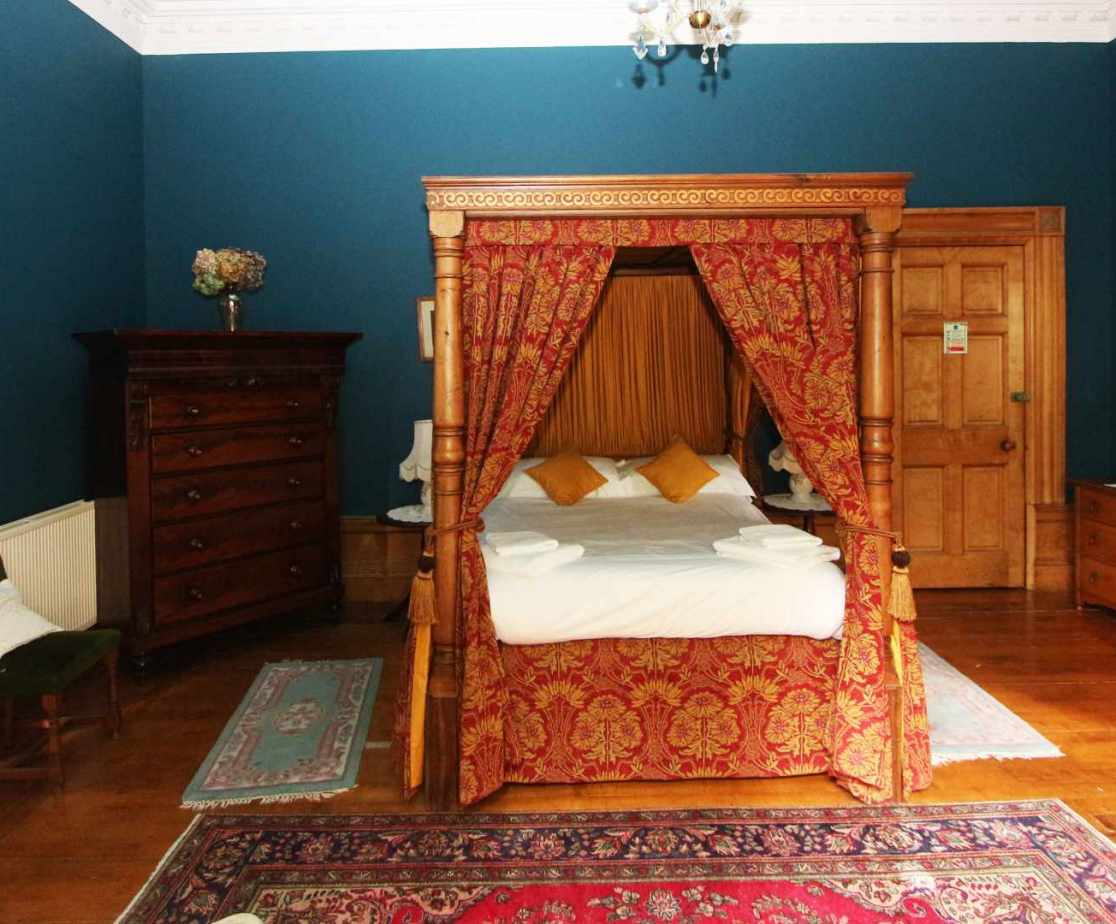 Room no 4, a four poster double room on the first floor