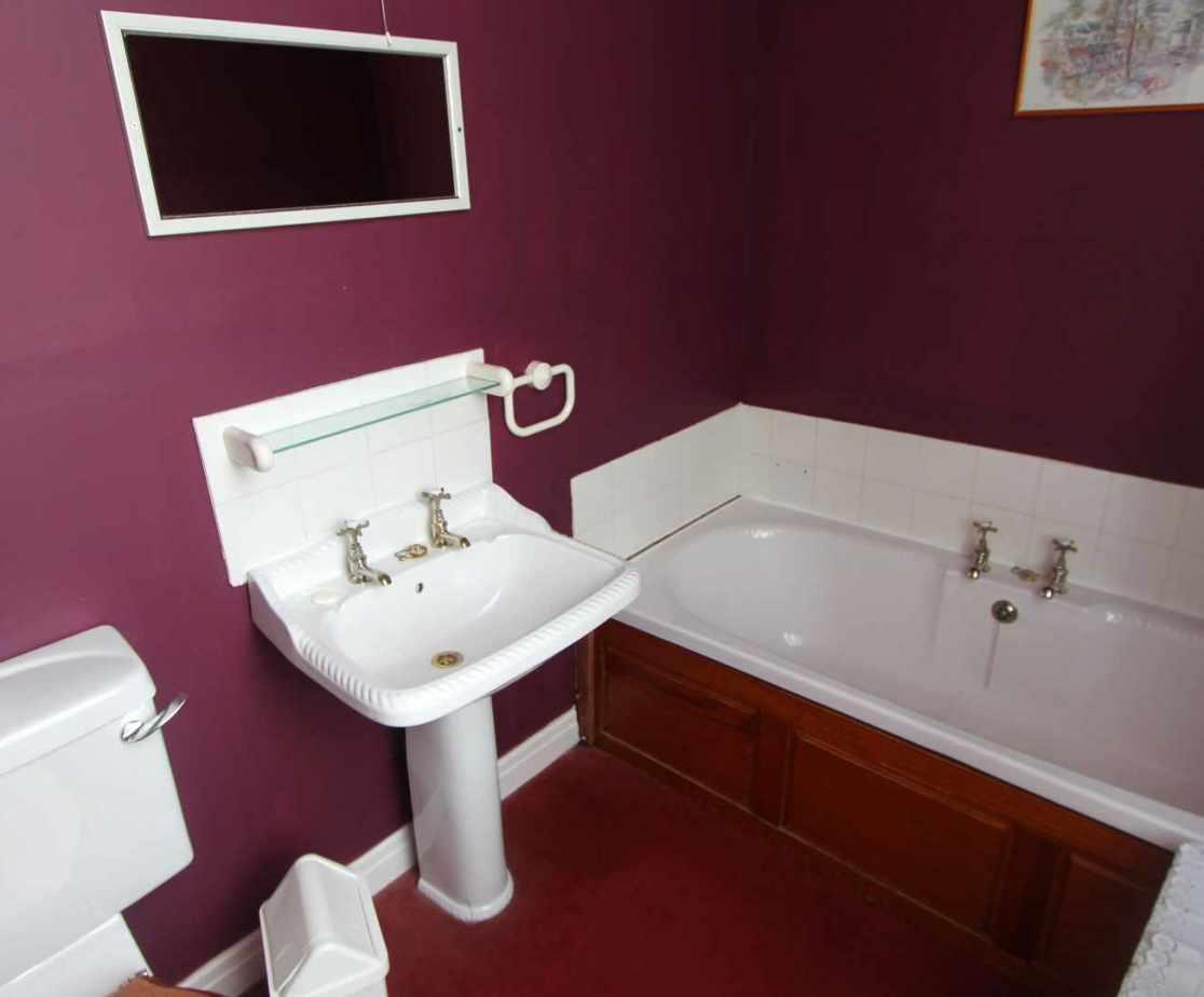 En suite bathroom for room no 5.
