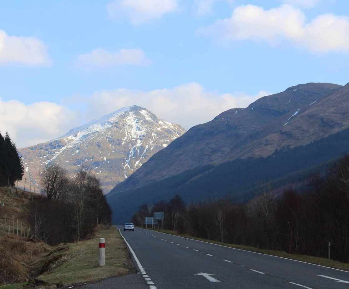 It will be sad to leave and get back onto the A83 again