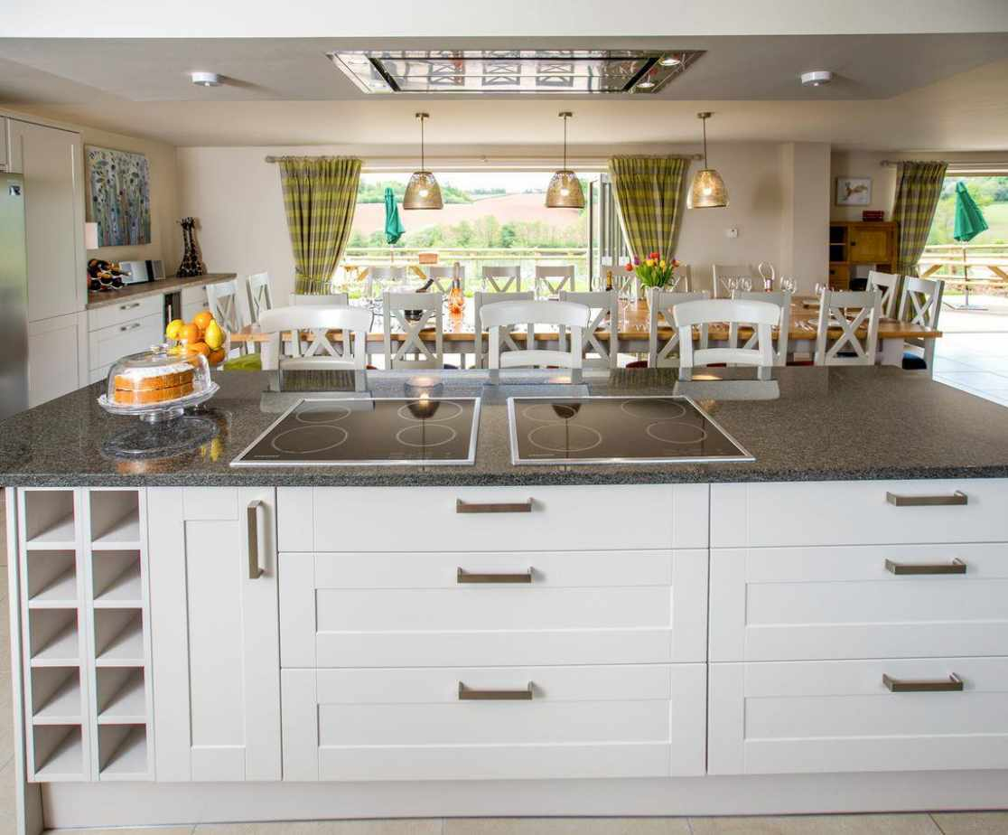Modern kitchen with useful 'island'