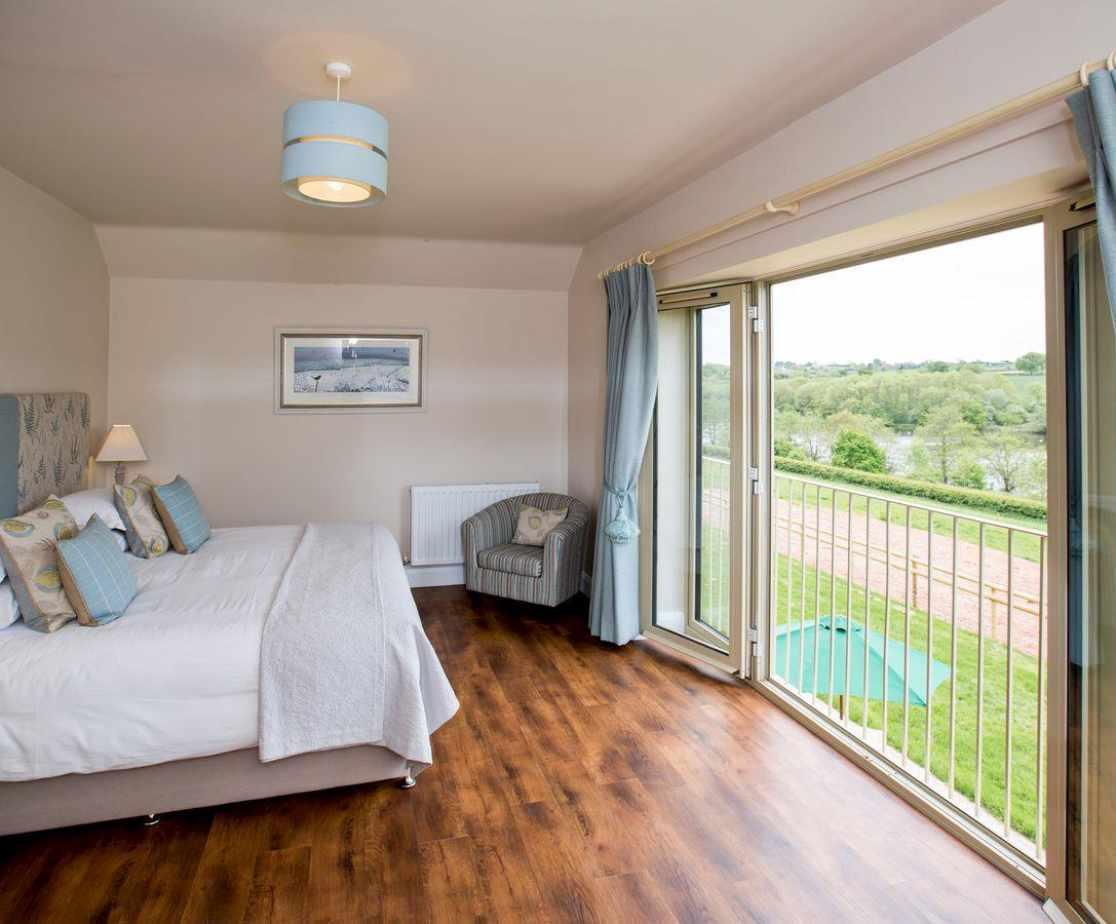 Impressive double bedroom with Juliet balcony