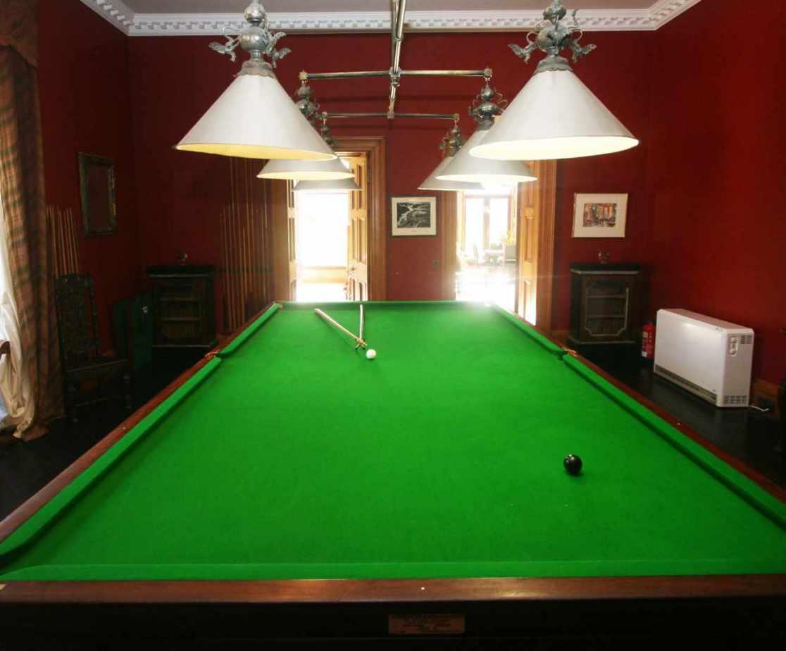 The billiard room is always popular
