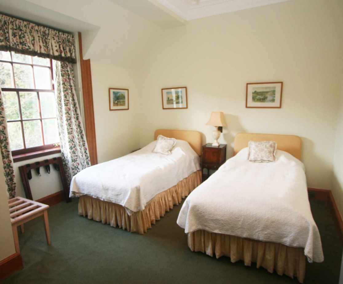\'Highland Dancer\' twin bedroom on the first floor