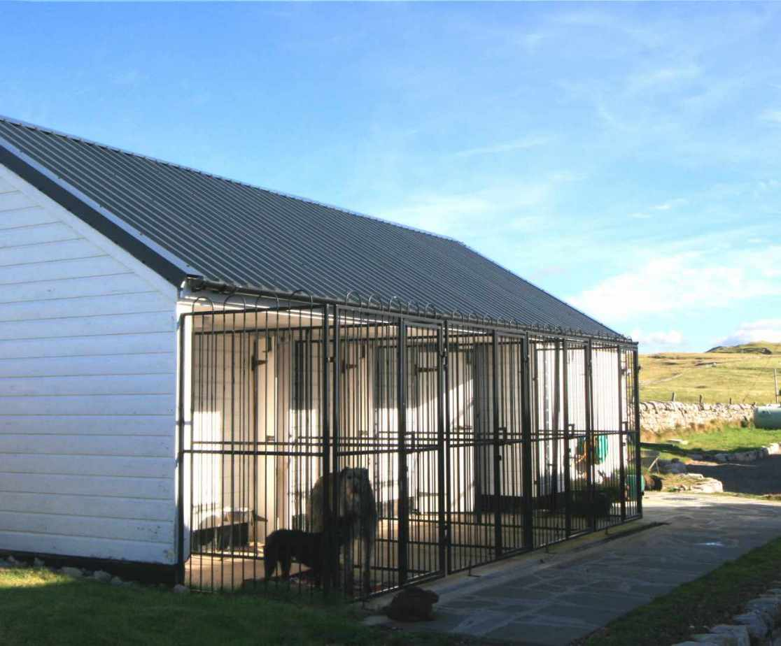 Dogs (2 only) are only allowed if they stay in these kennels