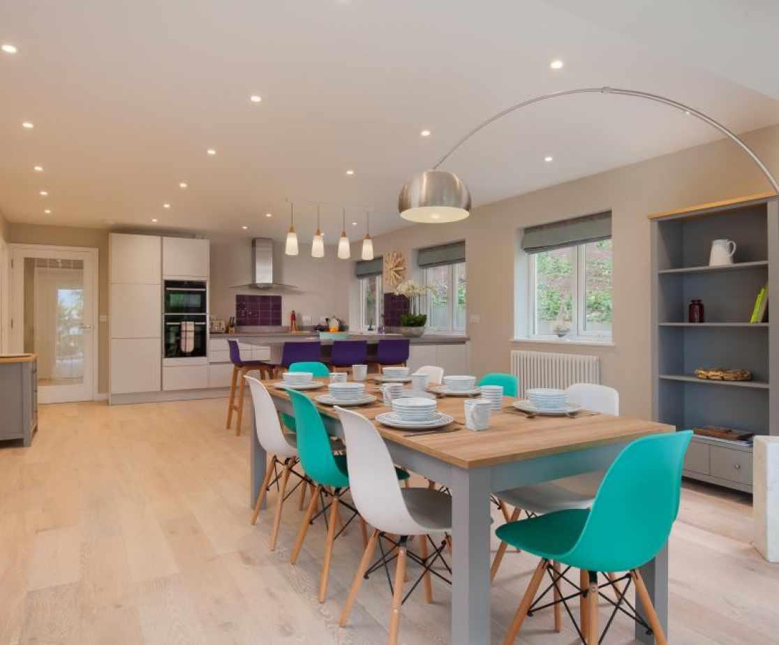 Open Plan Modern Kitchen Dining Area