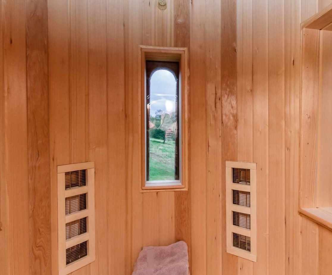 Quirky Contemporary Castle near Largs, Ayrshire  - sauna in the turret