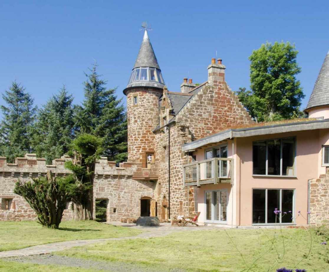 Quirky Contemporary Castle near Largs, Ayrshire  external