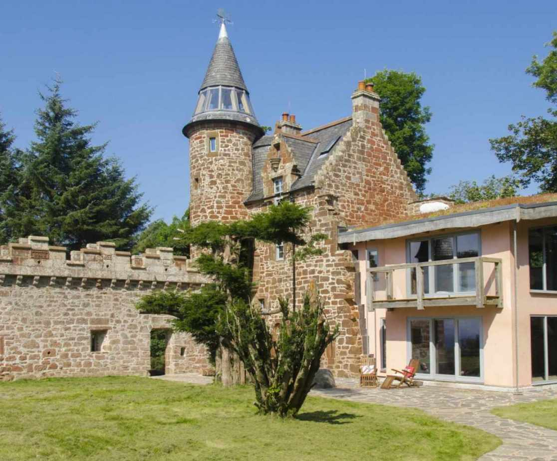 Quirky Contemporary Castle near Largs, Ayrshire - external