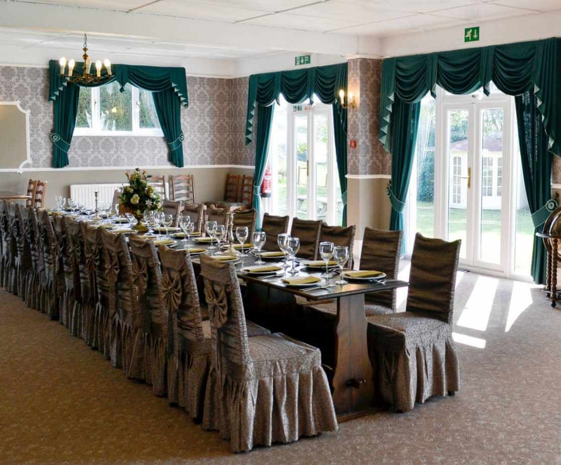 Huge dining room with room for all guests