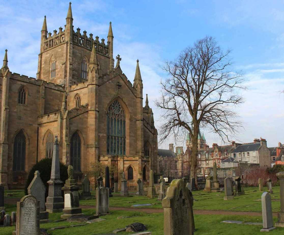 Dunfermline Abbey is a local landmark