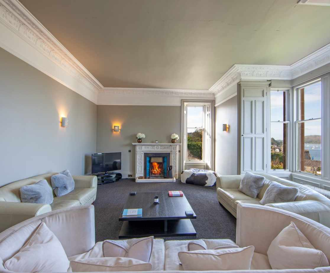 Front lounge with fantastic views over Oban