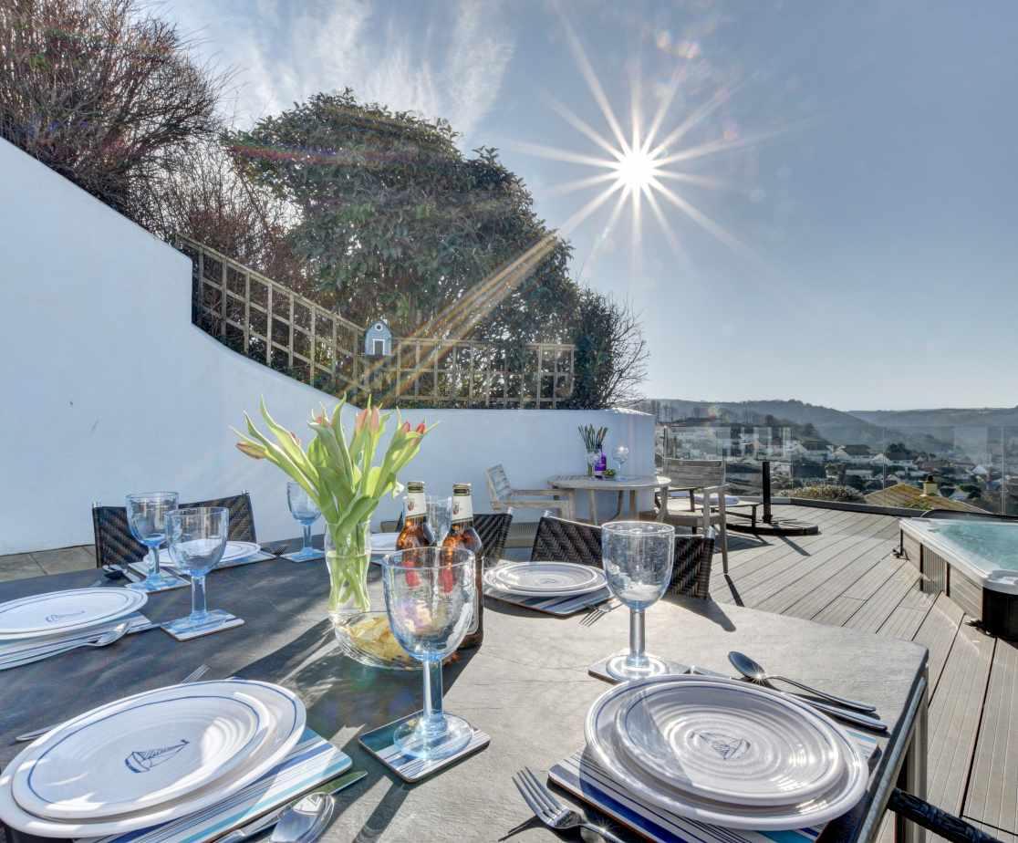 Enjoy al fresco meals on the decked terrace area