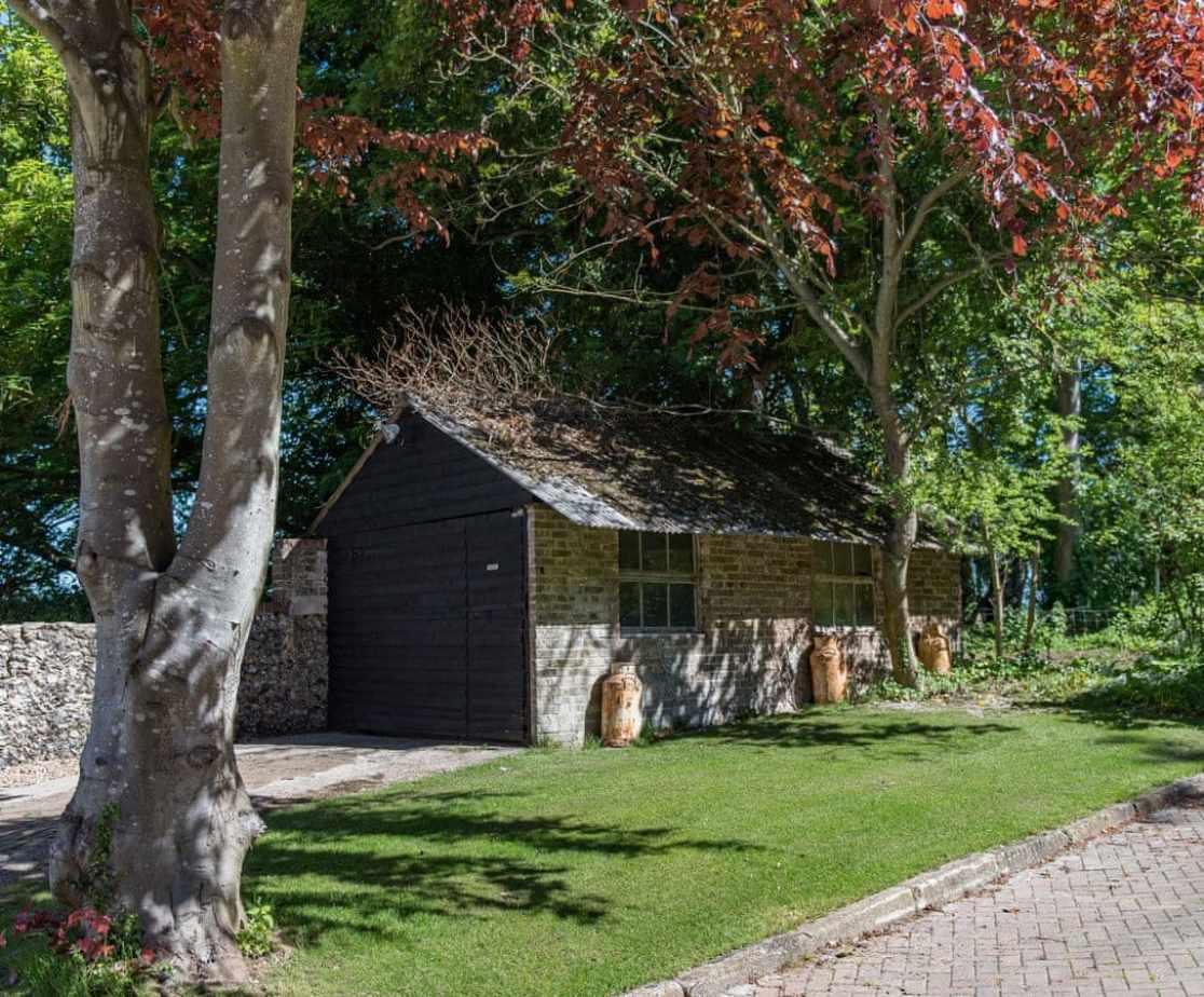 Well-maintained mature garden