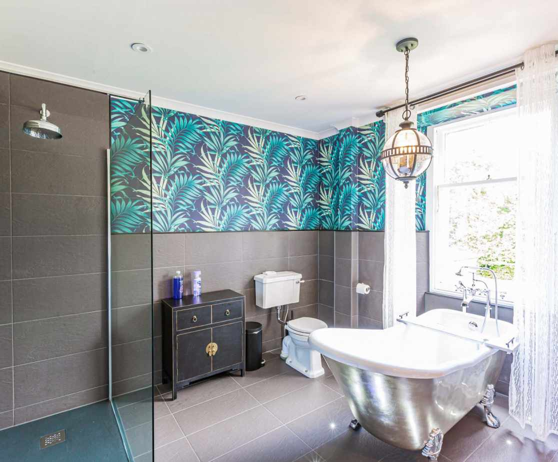 A long relaxing soak awaits in the clawfoot slipper bath of the beautiful 1st bedroom ensuite