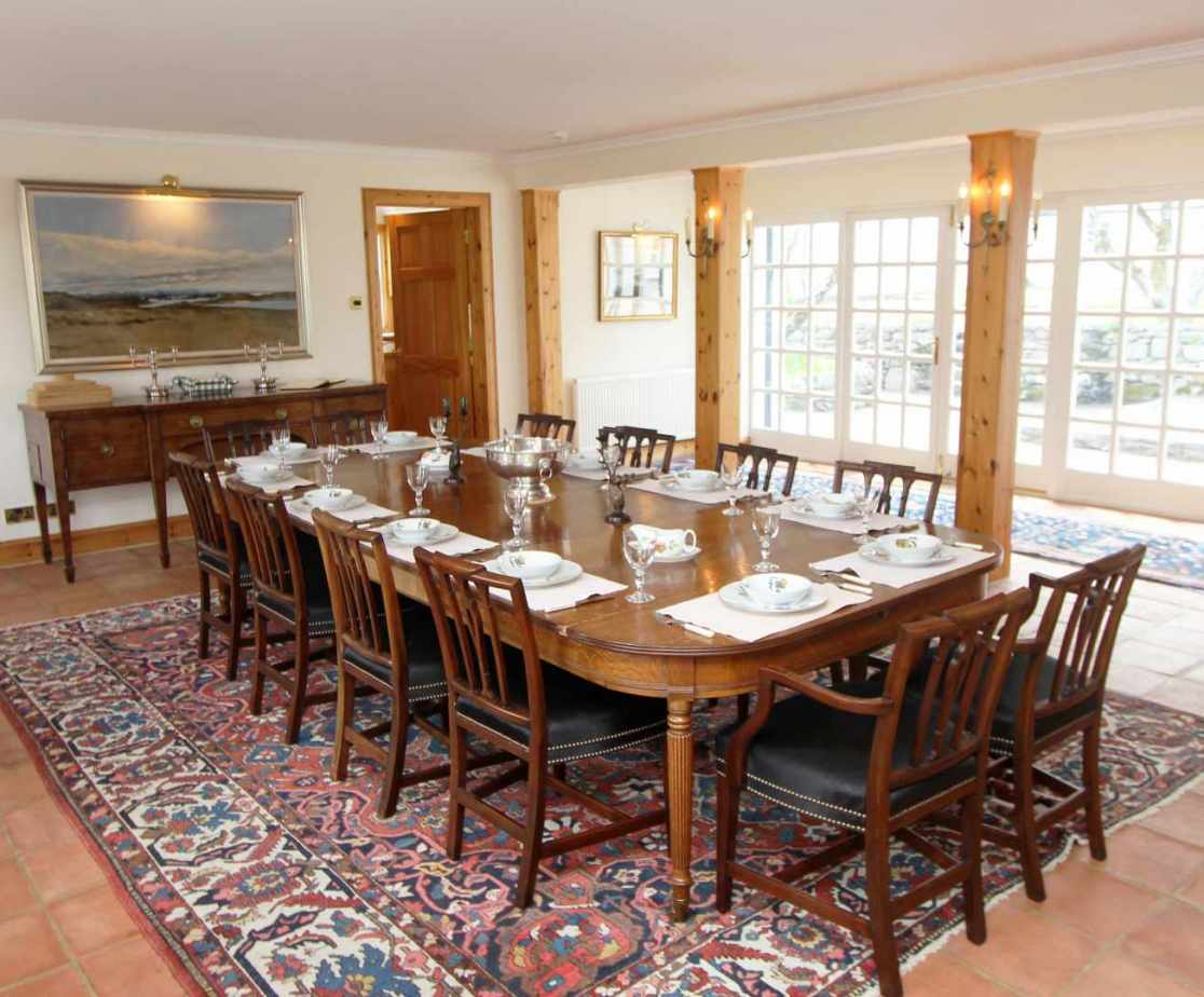 The dining room is the heart of the lodge