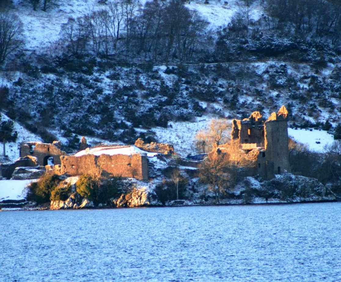 View across the water by Urquhart Castle