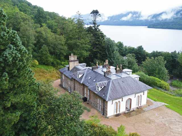 Large luxury house on Loch Lomond