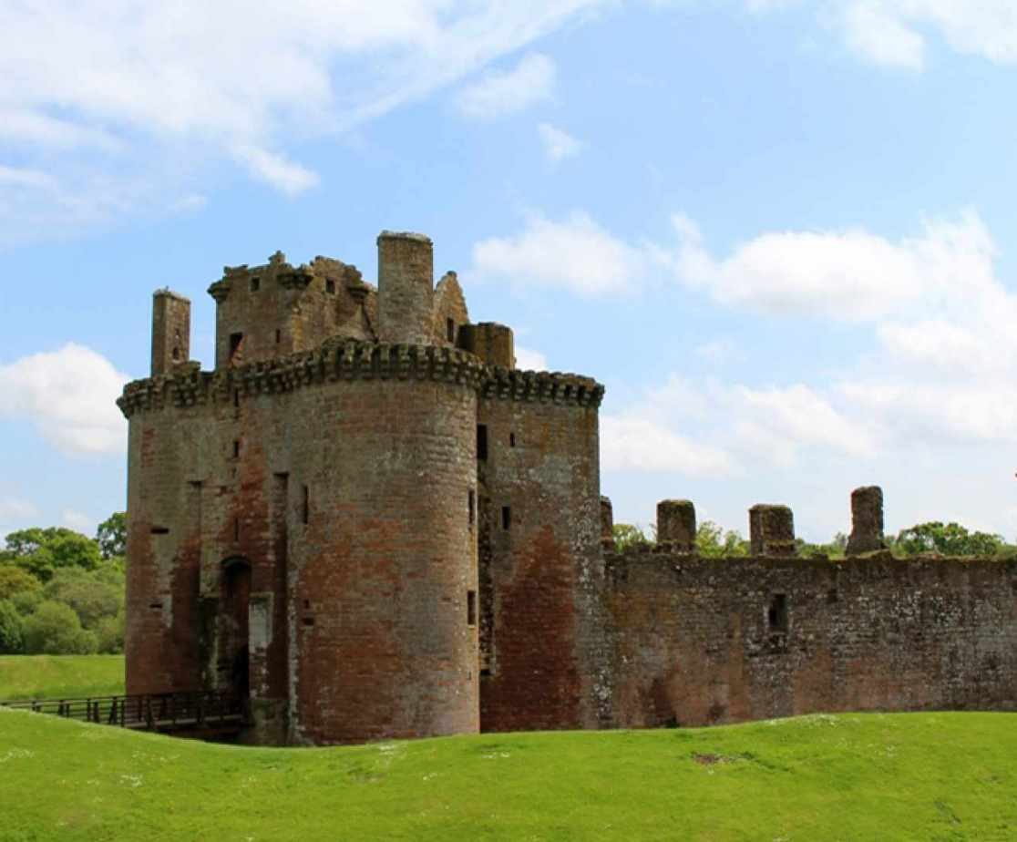 Caerlaverock Castle is just one of the other castles in the local area