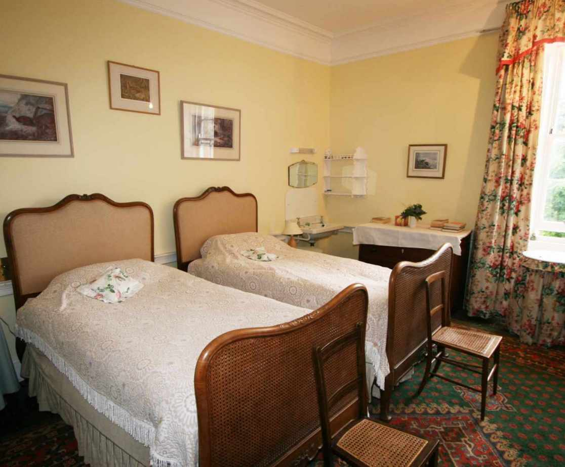 \'Granny\' twin bedded room is located on the first floor