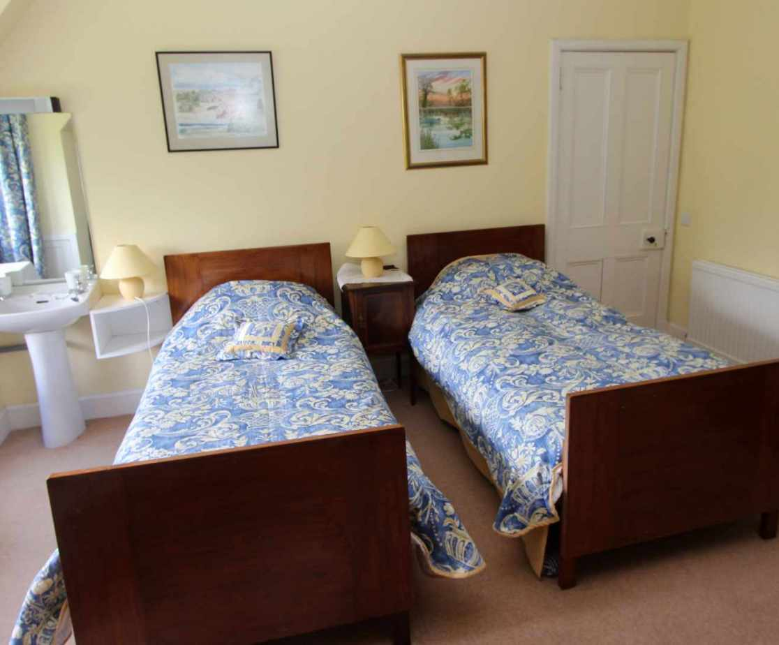 \'Sid\'s\' is a traditional twin bedroom on the second floor