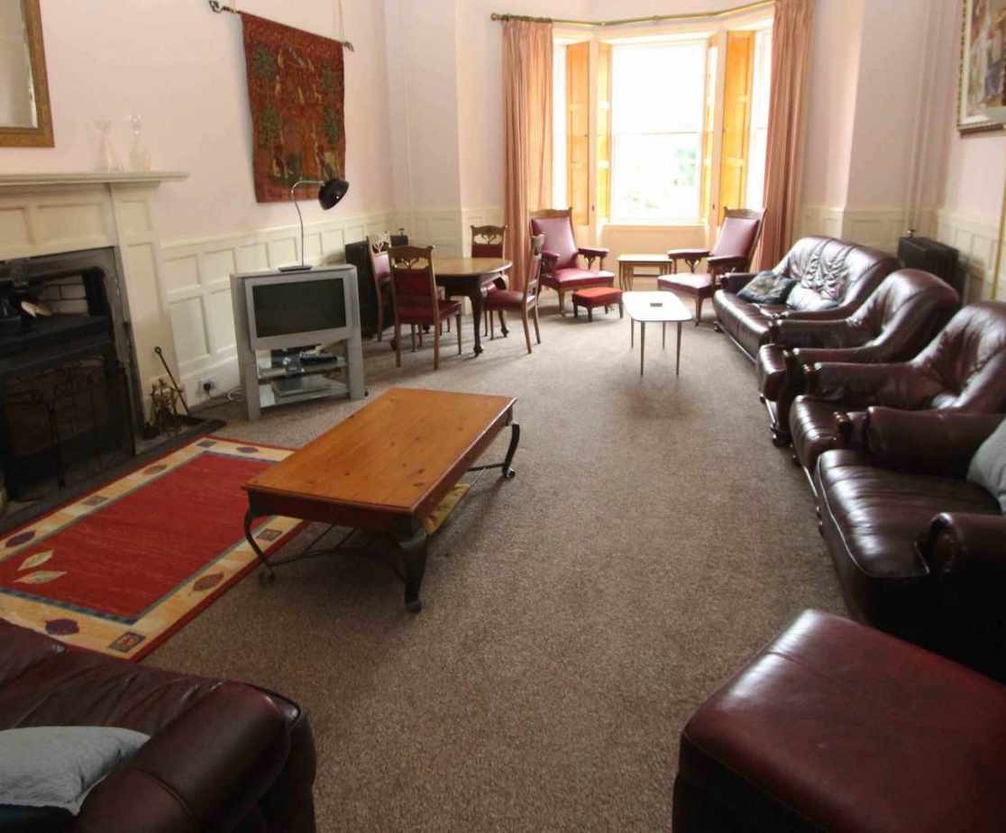 The sitting room is another large reception room