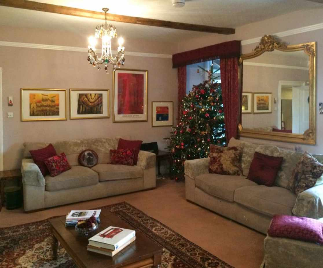 Lavish decorations during the festive period