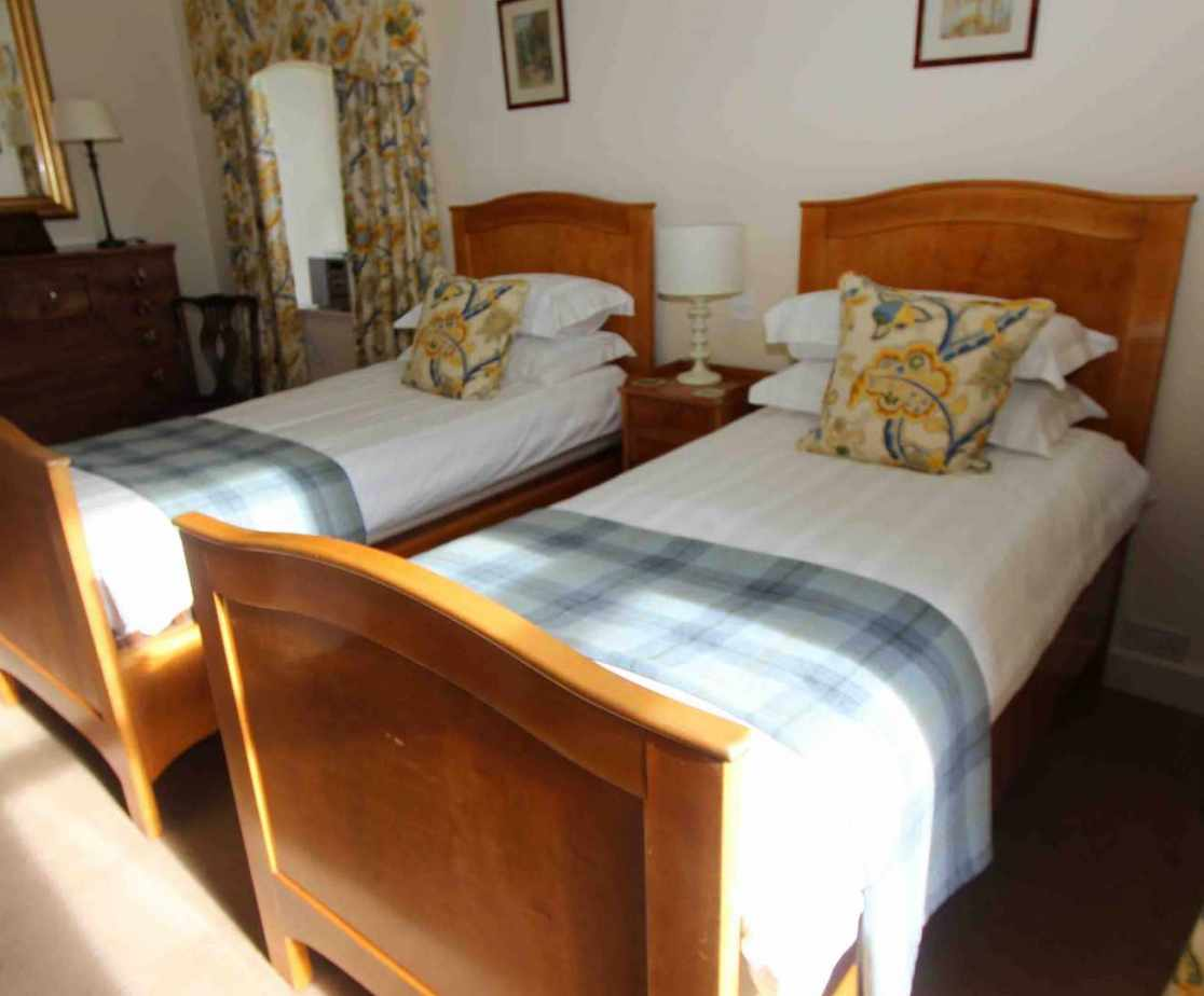 Bedroom 4, a stylish twin room on first floor