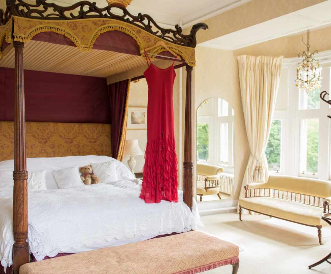 The stunning \'Bridal suite\' bedroom