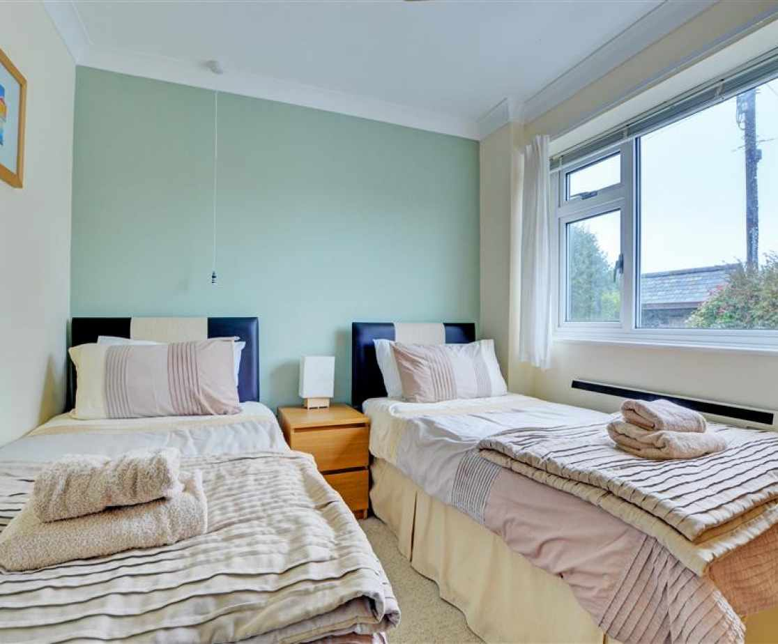 One of the twin bedrooms which is situated on the ground floor
