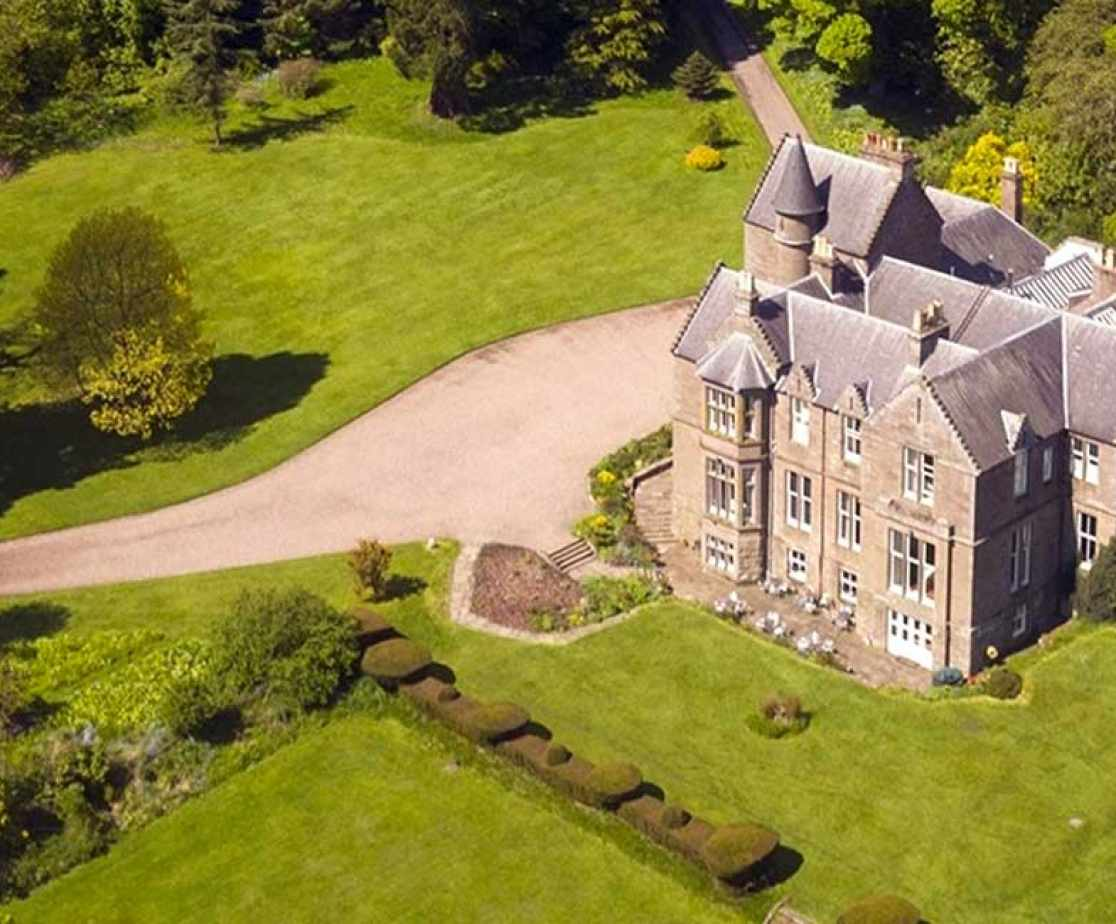 Aerial view of this impressive holiday home