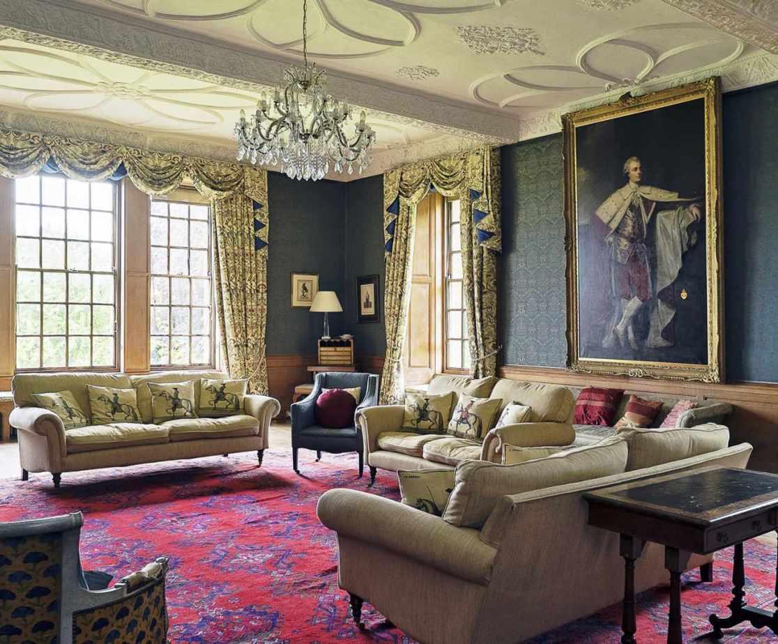 The drawing room is so lovely you might be tempted into evening dress for pre-dinner drinks