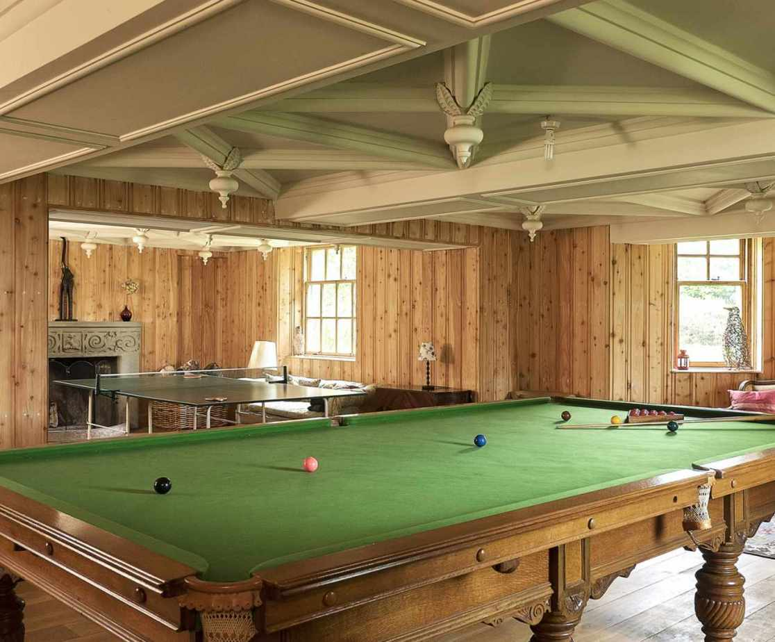 Snooker anyone? The games room is located on the lower ground floor.