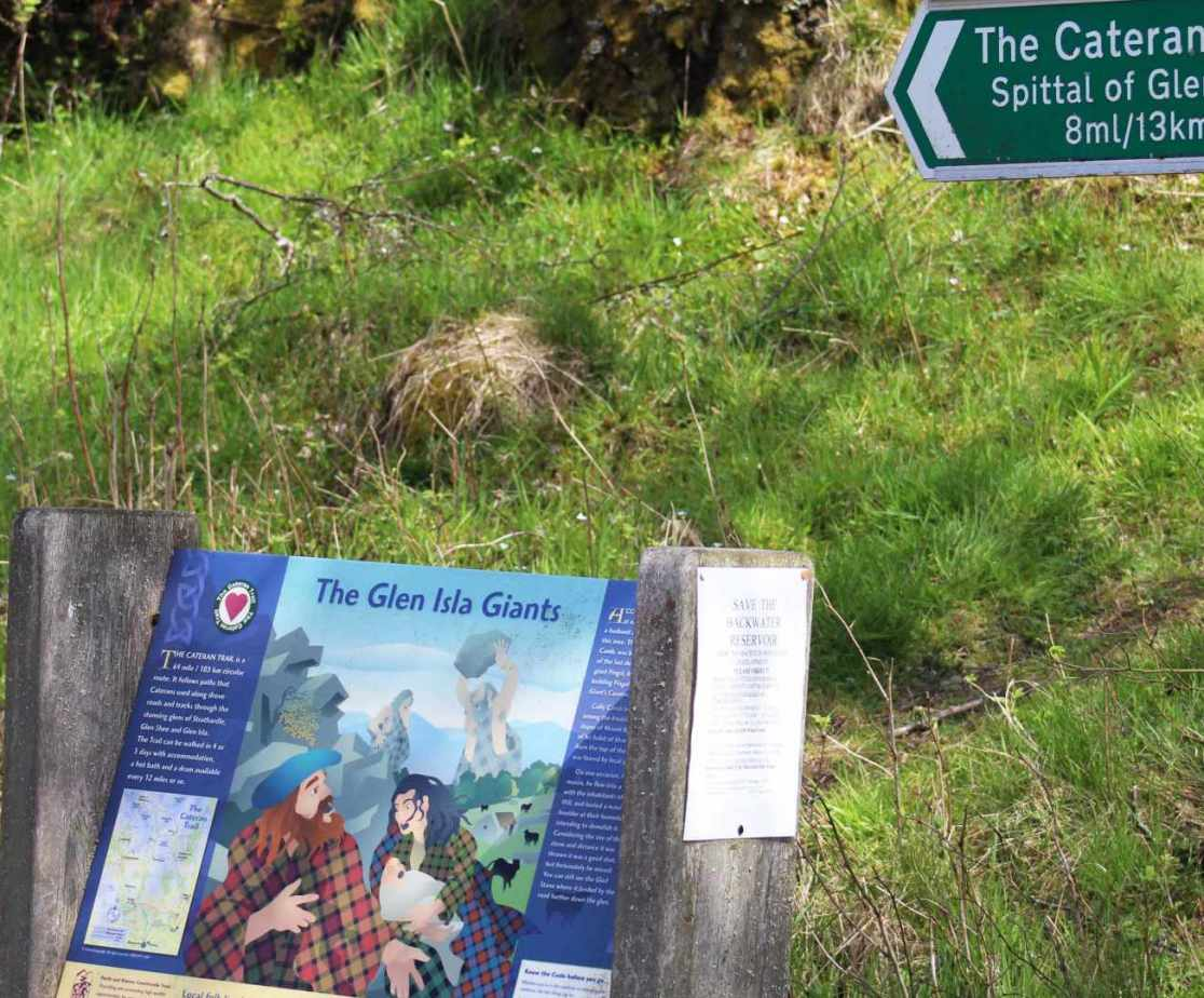 Glen Isla is not too far away for those who wish to explore the Cateran Trail