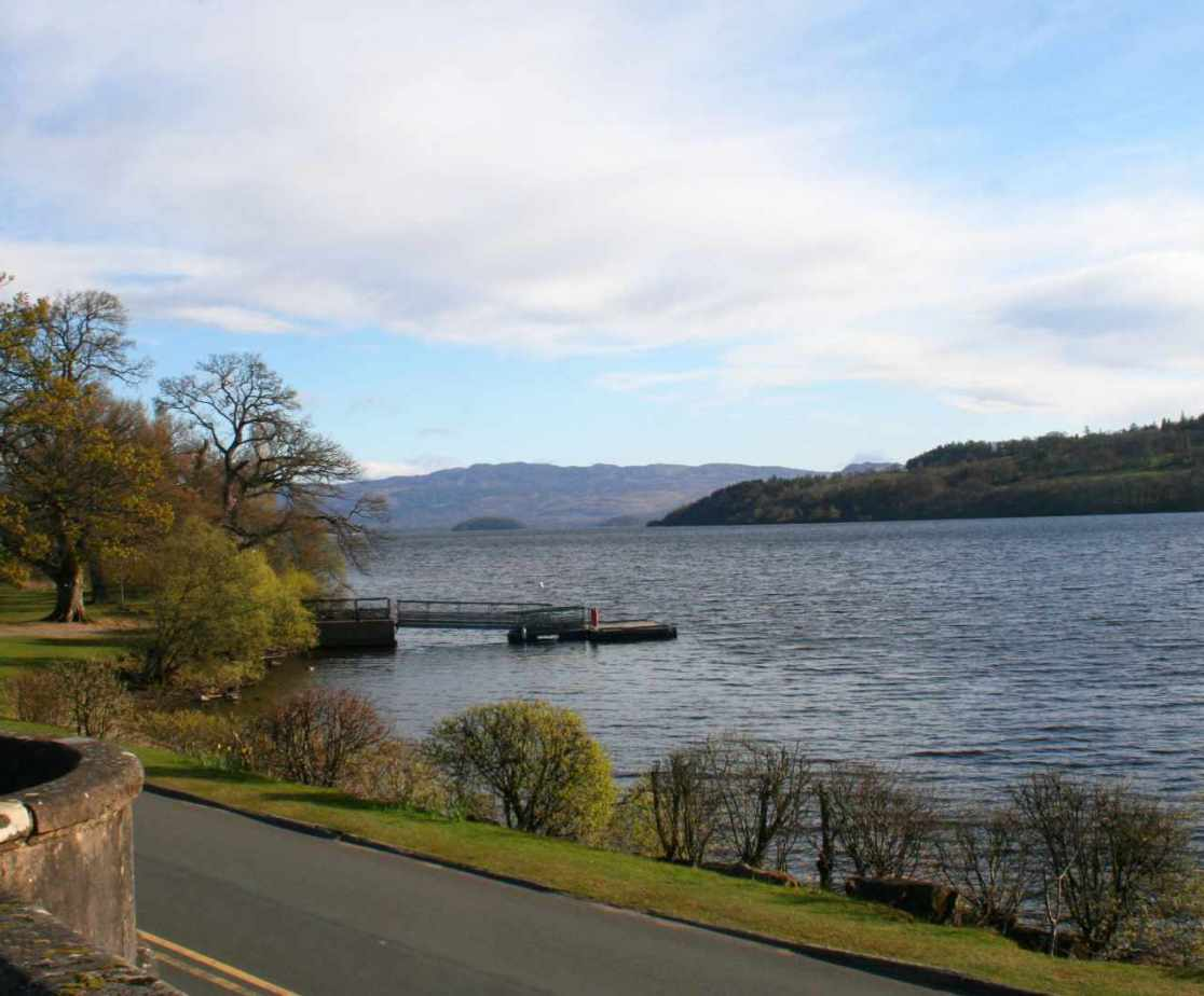 Loch Lomond is also closeby offering great access onto the water
